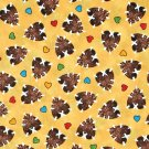 Nursery Cotton Fabric - Popcorn The Bear by Bright Star Characters - Hearts