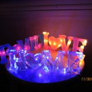 FAMILY resin with light sign