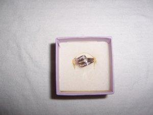 3 banded diamond ring