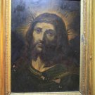 FROM XVI-XVII CENTURIES - IMMORTAL CHRIST WITH THORN CROWN. OIL ON COPPER. BAROQUE