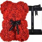 Rose Bear Teddy Perfect Luxury Gifts For Kids Moms Valentine's Day Rose flowers Bears 10 Inches