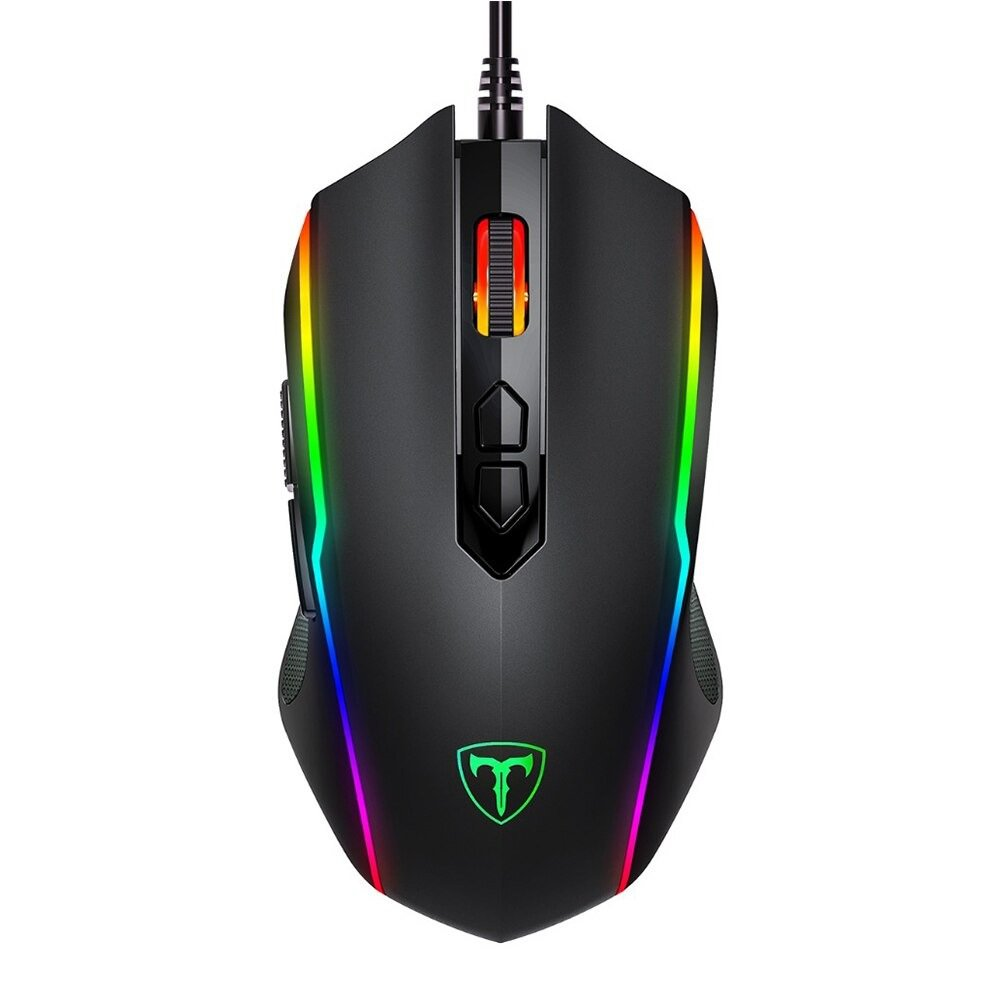 PICTEK RGB Gaming Mouse 8 Programmable Buttons 7200 DPI Adjust Optical Wired