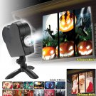 Halloween Christmas LED Projection Lamp 12 Movies Projector With Screen Window Room Decor