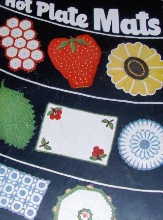 Hot Plate Mats, Hot Pads, Pot Holders, Star #70  Vintage Crochet Pattern