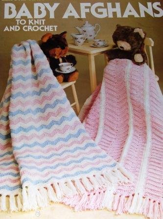 Crochet Pattern Baby Afghans to Knit and Crochet, 2 Ripple afghans 2 Granny square afghans