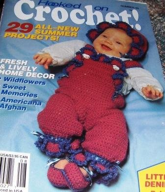 Hooked On Crochet No. 40 with 29 summer projects, afghan, baby rompers and more!