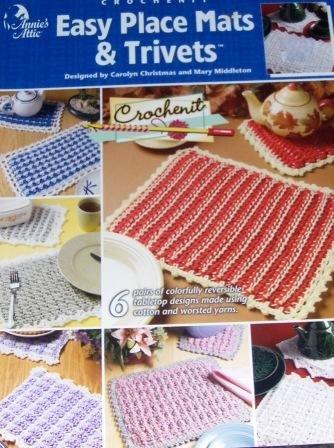 Annie's Attic Crochenit Easy Place Mats & Trivets Pattern
