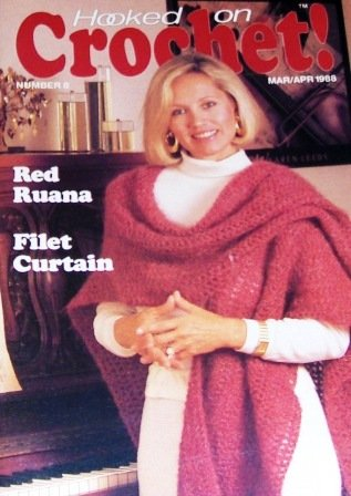 Hooked On Crochet Magazine  No. 8 with 14 projects, Afghan, Shawl, Indian Rug and more!