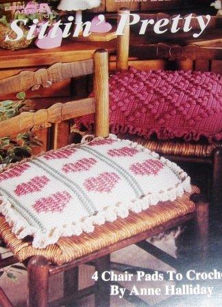 Crochet Pattern Seat Cushions Pillows Leisure Arts Sitting Pretty Leaflet 2520