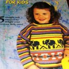 SWEATERS FOR KIDS, elephants, cars, balloons House of White Birches knitting pattern 121005