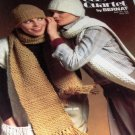 Bernat 244 Cozy Quartet Hat and Scarf sets to knit crochet 4 designs