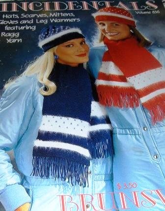 Knitting Pattern Leg Warmers Hats Scarves Mittens Gloves to Knit  INCIDENTALS by Brunswick