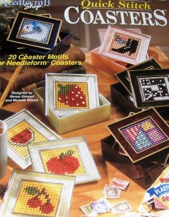 Plastic Canvas Pattern Quick Stitch Coasters using either Needleform coasters or plastic canvas