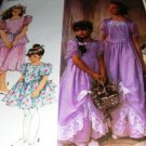 Flower Girl, pagent, Jr. Bridesmaid Dress Sewing Pattern Simplicity  7082 Size 2-6x