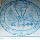 Cross Stitch Pattern for Military Army Branch Service Men Plaque, Hat Insignia