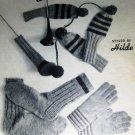 Hilde 117 Mittens Socks Dog Sweaters Golf Mitts Gloves Scarves Vintage Knitting Patterns