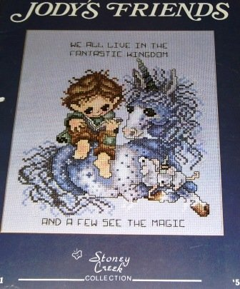Unicorns Bears Sisters are forever Cross Stitch Pattern Jody's Friends Stoney Creek Collection