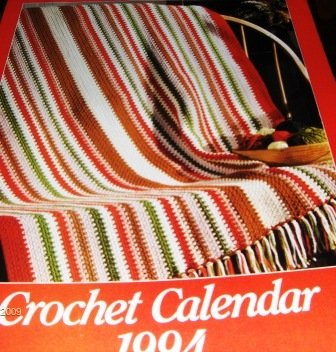 Crochet calendar House of White Birches 1994 12 patterns doilies home decor afghans.