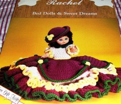 Bed Dolls Dumplin Designs Gibson Girl Pillow Doll Crochet Pattern Rachel