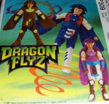 McCalls P309 Dragon Flyz costume Super Hero Dragon boy Size 3,4