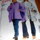 Polar Fleece Poncho Sewing Pattern EASY McCall's 4207 Size 20-26 XL - XXL Uncut