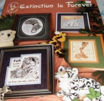 Extinct Animals Cross Stitch Pattern Elephant, Polar Bear, Zebra, Tiger, Whale, Dolphin, Panda
