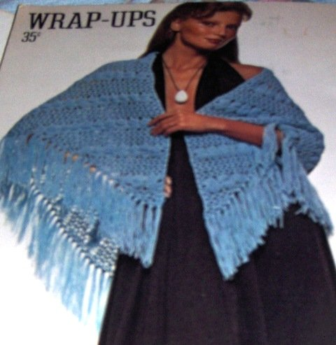 Capes poncho Shawl Retro Crocheting Knitting Pattern to crochet and knit by Coats Clarks