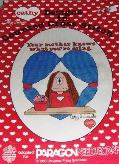 Cathy Comics Cross Stitch Pattern Cathy Guisewite Designs by Gloria & Pat