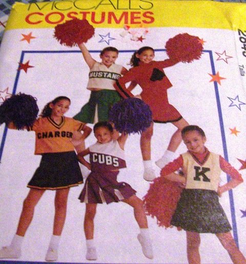 Child Teen Cheerleading Uniform McCall's Costumes 2849 Size 8-10 Sewing Pattern Cheer for your team!