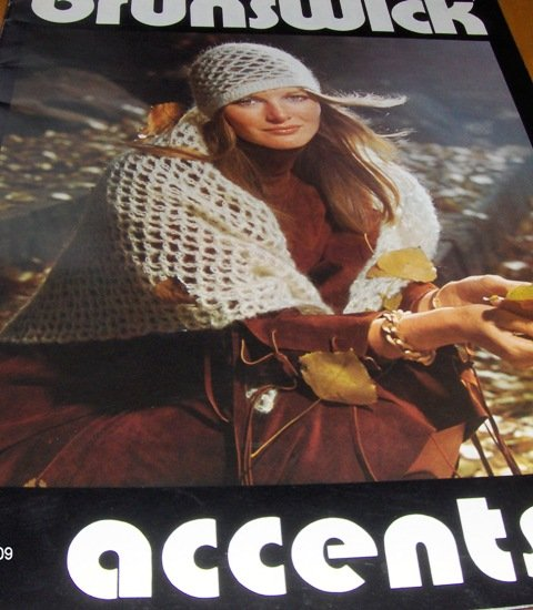 Retro Knitting and Crochet Patterns for  Hats Scarfs Capscarf Brunswick Accents 701