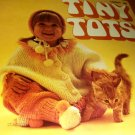 Tiny Tots Outfits Crochet Knit Leisure Arts Pattern Leaftlet 9 easy knit ponchette  baby boy set