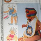 Sewing Pattern Baby Garfield the Cat Applique Bib Bonnet Hat Booties Diaper Cover Simplicity 9222