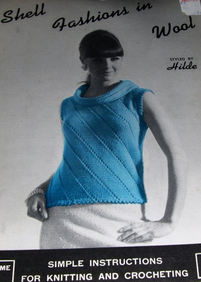 Retro Hilde Knitting Pattern Shell Fashions in Wool Sleeveless Sweaters Womens MIsses sizes