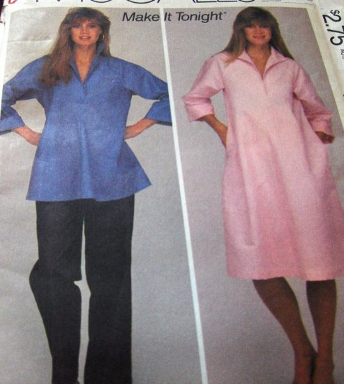 Maternity Pattern for Misses Easy dress or top size 12 McCall's Sewing pattern no. 8364