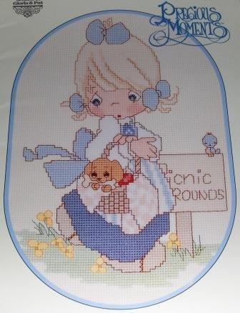 Precious Moments A Calendar Year counted cross stitch designs PM 18