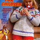 Classics for Children knitting patterns ski sweaters flower sweater  Brunswick Sizes 4 to 14