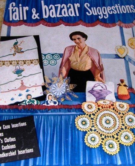 Fairs Bazaars Vintage thread Crochet Pattern Pineapple Pincushion Star book 74 Doilies