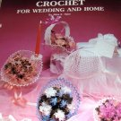 Crochet for Wedding and Home Bouquet Holders, Bridal Head Piece, Flower Girl Basket