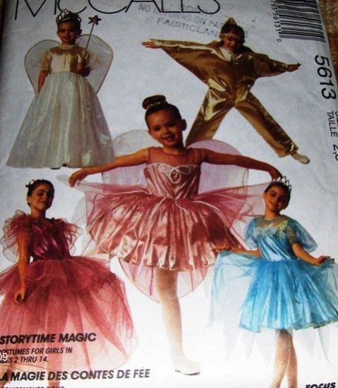 Child Halloween Costume Pattern McCall's 5613 Fairy Queen Tinker Bell Fairy Princess Ballerina Star