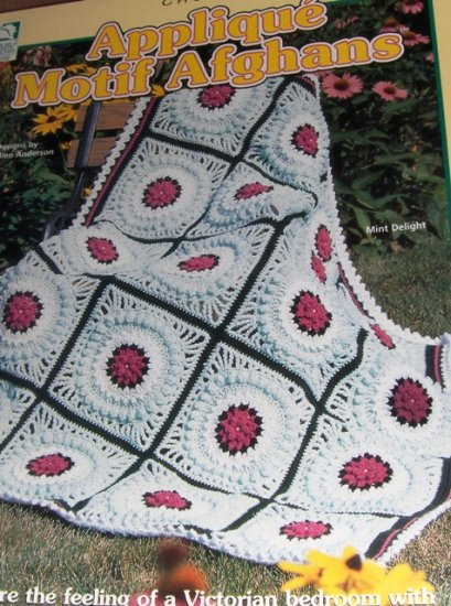 Applique Motif Afghan Crochet Patterns Six Designs House of White Birches