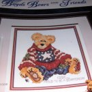 Cross Stitch Pattern Boyds Bears Eddie Proud to be a Bearmerican Stoney Creek