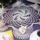 Magic Crochet No. 76 crocheting pattern magazine Feb 1992 Tablecloths Swan Doilies purse Book Cover