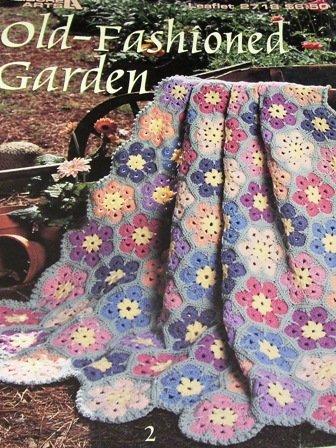 Afghan Crochet Pattern Old-Fashioned Garden Floral Afghans Leisure Arts 2718