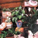 Annie's Attic Plastic Canvas Pattern Pretty Plant Pot Covers II  Bunny Butterfly Southwest