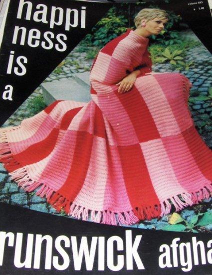 Vintage Afghan Knit Crochet Patterns Brunswick  Plus knit Dress Sweater Skirt pattern
