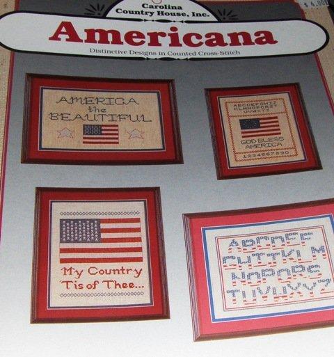 Patriotic Cross Stitch Charts Americana America the Beautiful Sampler