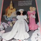 Fibre Craft  Fashion Doll Bridal gown and Bridesmaids gown FCM325 Crochet Pattern