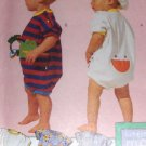 Sewing Pattern Infants Baby Romper and Hat Little Me Design McCall's 7110 UNCUT