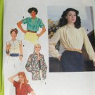 Vintage Blouse Unlined Shirt Jacket Sewing Pattern SImplicity 9060 size 10