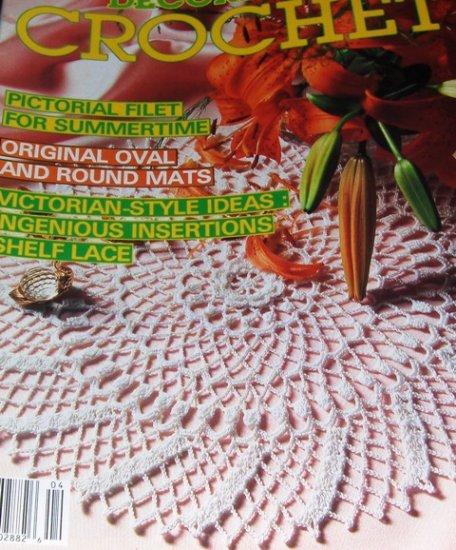 Decorative Crochet Number 4, Filet Doilies, Shelf Lace, Table Runners, Tablecloths